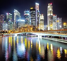 singapore skyline by mugley