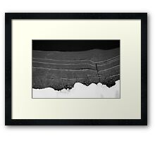 Abstract winter world Framed Print