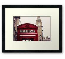 A very London telephone box Framed Print