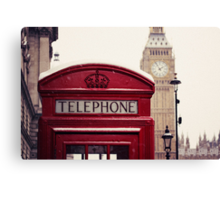 A very London telephone box Canvas Print