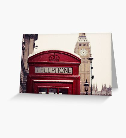 A very London telephone box Greeting Card