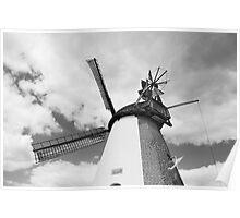 Windmill in Südhemmern Poster
