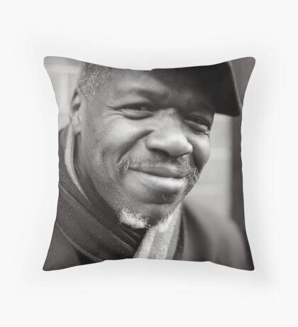 Etienne: Jazz Singer Throw Pillow