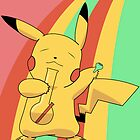 Pikachu Stoned by Studio Momo╰༼ ಠ益ಠ ༽