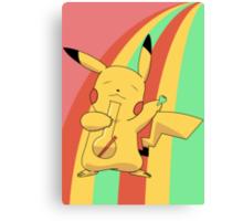 Pikachu Stoned Canvas Print