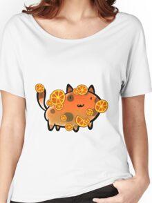 Orange Fruit Cat Women's Relaxed Fit T-Shirt