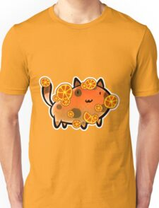 Orange Fruit Cat Unisex T-Shirt