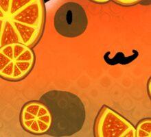 Orange Fruit Cat Sticker