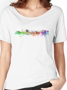 London skyline in watercolor on white background Women's Relaxed Fit T-Shirt