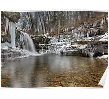 Winter at Lewis Falls Poster