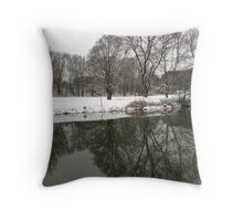 Mirrored Meadow Throw Pillow