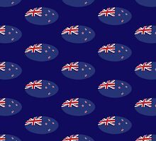 Circular KIWI New Zealand Flag by jazzydevil