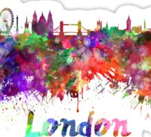 London skyline in watercolor Sticker
