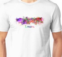 London skyline in watercolor Unisex T-Shirt