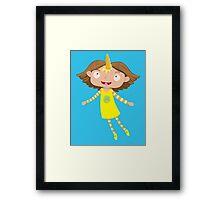 cute unicorn girl Framed Print