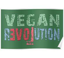 VEGAN REVOLUTION - vegan, vegetarian, animal rights, cruelty to animals Poster