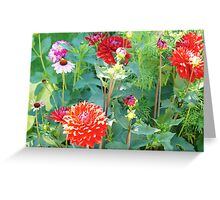 Time Travel  in Flowers Greeting Card