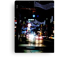 Christmas  rush down Yonge Street Canvas Print