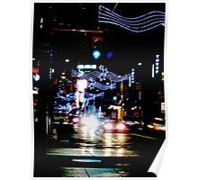 Christmas  rush down Yonge Street Poster