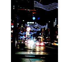 Christmas  rush down Yonge Street Photographic Print