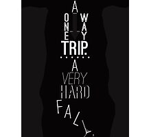 Mark of Athena - One Way Trip Photographic Print