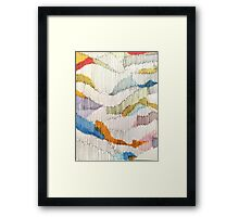 lines and colour Framed Print