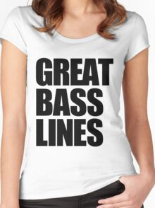 Great Bass Lines (black) Women's Fitted Scoop T-Shirt