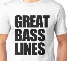 Great Bass Lines (black) Unisex T-Shirt
