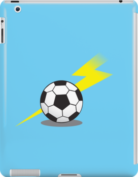 Football Soccer ball with a lightning bolt by jazzydevil