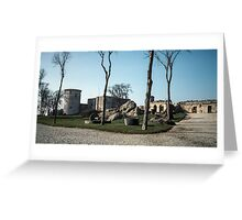 Discarded mill stones Faliase castle grounds 198402170035 Greeting Card