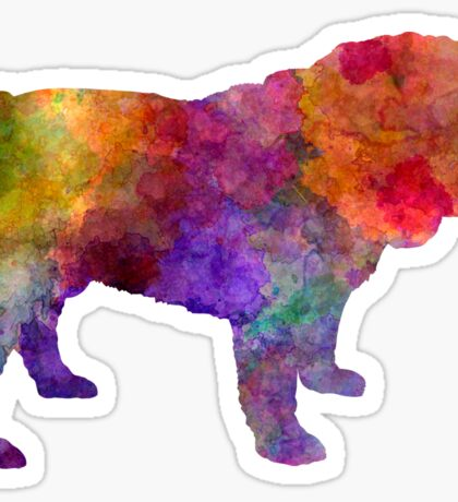 English Bulldog in watercolor Sticker