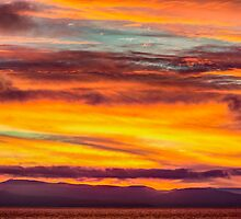 Fire in the Sky over Vancouver Island, Canada  by Jim Stiles