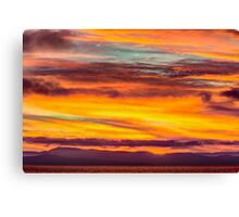 Fire in the Sky over Vancouver Island, Canada  Canvas Print