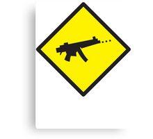 Beware Digital GAMER crossing design Canvas Print