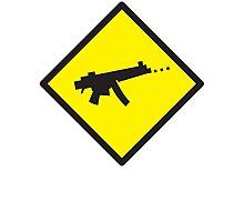 Beware Digital GAMER crossing design Photographic Print