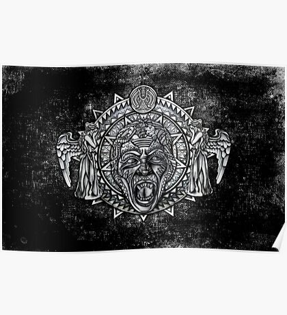 Aztec Dark Angel Don't Blink Pencils sketch Art Poster