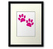 Cute kitty cat paws Framed Print