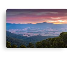 Valley of Smoke Canvas Print