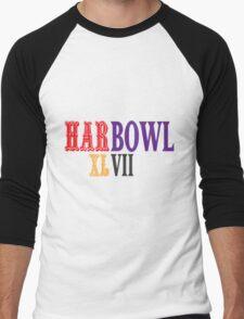 HARBOWL (Super Bowl) XLVII - Jim Harbaugh's San Francisco 49ers vs John Harbaugh's Baltimore Ravens Men's Baseball ¾ T-Shirt
