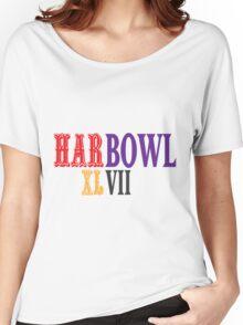 HARBOWL (Super Bowl) XLVII - Jim Harbaugh's San Francisco 49ers vs John Harbaugh's Baltimore Ravens Women's Relaxed Fit T-Shirt