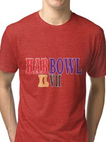 HARBOWL (Super Bowl) XLVII - Jim Harbaugh's San Francisco 49ers vs John Harbaugh's Baltimore Ravens Tri-blend T-Shirt