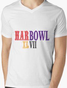 HARBOWL (Super Bowl) XLVII - Jim Harbaugh's San Francisco 49ers vs John Harbaugh's Baltimore Ravens Mens V-Neck T-Shirt