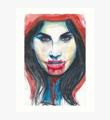 The red riding hood. Art Print