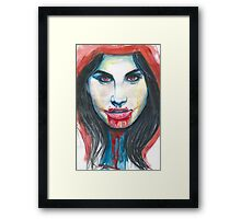 The red riding hood. Framed Print