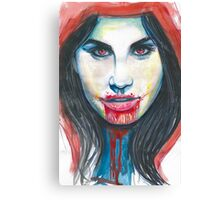 The red riding hood. Canvas Print