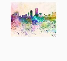 Lyon skyline in watercolor background Unisex T-Shirt