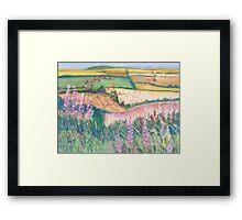 Godmanstone Hillside Framed Print