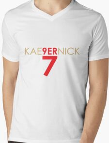 KAE9ERNICK 7 - QB #7 Colin Kaepernick of the San Francisco 49ers Mens V-Neck T-Shirt