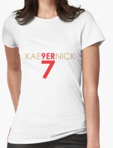KAE9ERNICK 7 - QB #7 Colin Kaepernick of the San Francisco 49ers Womens Fitted T-Shirt