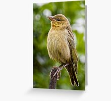 Upright & Ready Greeting Card